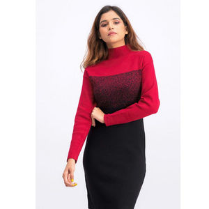 Anne Klein NWT Red & Black Bodycon Sweater Dress